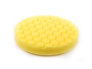 "ES#2619003 - BUFX101HEX6 - 6.5"" Yellow Hex Logic Cutting Pad - 500 To 1000 Grit - Designed for use with heavy cutting compounds - Chemical Guys - Audi BMW Volkswagen Mercedes Benz MINI Porsche"