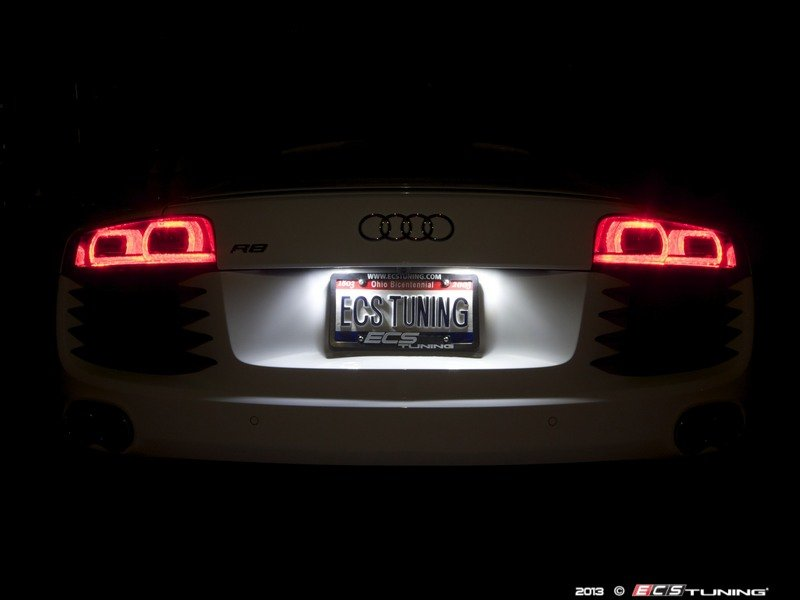 Ecs News Audi R8 Ziza Led License Plate Bulbs