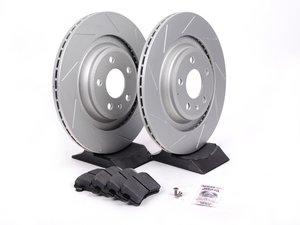 ES#2597373 - 8K0601CSLGMTKT - Performance Rear Brake Service Kit - Featuring ECS GEOMET Slotted rotors and Hawk HPS pads - Assembled By ECS - Audi