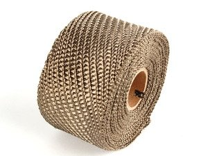 "ES#261348 - 010129 - Titanium Exhaust Wrap - 2"" X 15ft - Designed to handle temperatures up to 2800F - DEI -"