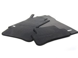 ES#1820770 - 66290007 - Carpeted Floor Mat Set - Black - Genuine Mercedes Benz - Mercedes Benz
