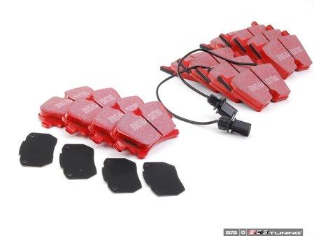 ES#2627411 - DP31513CKT - Front & Rear RedStuff Brake Pad Kit - High performance street pad, featuring Kevlar technology. - EBC - Audi