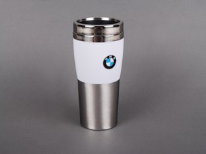 ES#193411 - 80900435781 - BMW Fusion Travel Mug - White - Keep drinks insulated and contained - Genuine BMW - BMW