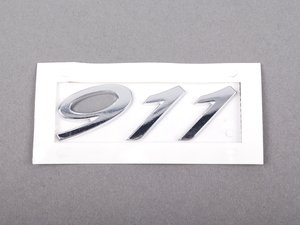 "ES#1882075 - 99755923100 - ""911"" Logo - Chrome - 911 emblem for engine lid - Genuine Porsche - Porsche"