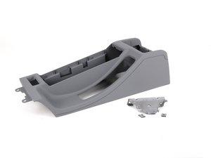 "ES#2215315 - 51168248507 - Armrest Delete Kit - Gray - Eliminate your armrest - ""short"" style center console - Genuine BMW - BMW"
