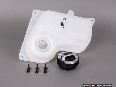 ES#2642159 - 8D0121403MKT - Expansion Tank Replacement Kit W/ R8 Coolant Cap - Install a brand new expansion tank with a new R8 polished aluminum cap and hardware - Assembled By ECS - Audi