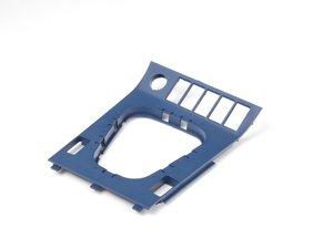 ES#81704 - 51162491400 - Shifter Trim - Estoril Blue - Trim piece surrounding the shifter - Genuine BMW - BMW