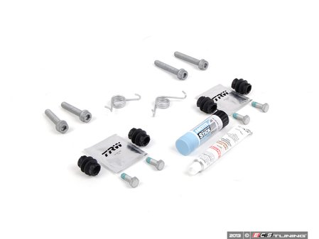 ES#2587574 - 8K0698470AKT2 - Rear Pad And Rotor Installation Kit - Includes hardware and anti-seize for rear pad & rotor replacement - Assembled By ECS - Audi