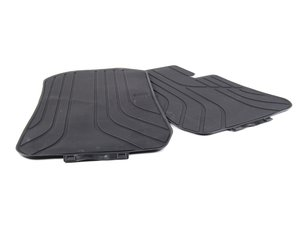 ES#2641598 - 51472311024 - Front Rubber Floor Mats - Black - Protects your floor and carpet from moisture - Genuine BMW - BMW