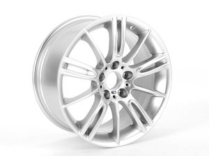 "ES#65130 - 36118036934 - 18"" M Spider Spoke Style 193 Wheel - Priced Each - 18x8.5 ET37 72.6mm CB. Finished in Hyper Silver. - Genuine BMW - BMW"