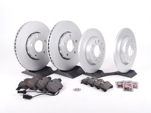 ES#514259 - 4A0698007 -  Front & Rear Economy Brake Service Kit - Featuring OP Parts rotors with Vaico brake pads - Assembled By ECS - Audi