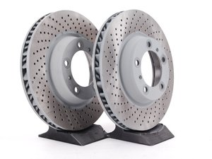 """ES#2535402 - 99635140904KT - Front Brake Rotors - Pair 12.99"""" (330mm) - Directional front axle fitment - Both left and right - Sebro - Porsche"""