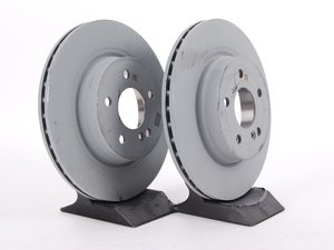 ES#2702398 - 000423121207KT1 - Rear Brake Rotors - Pair (300x22) - Does not include new rotor securing screws - Genuine Mercedes Benz - Mercedes Benz