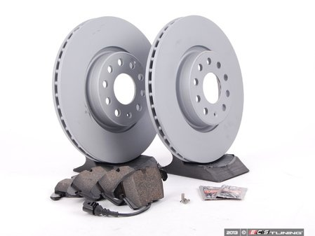 ES#2996277 - 1K0698301AASKT - Front Brake Service Kit (312x25) - Featuring Zimmermann rotors and Vaico pads - Assembled By ECS - Volkswagen