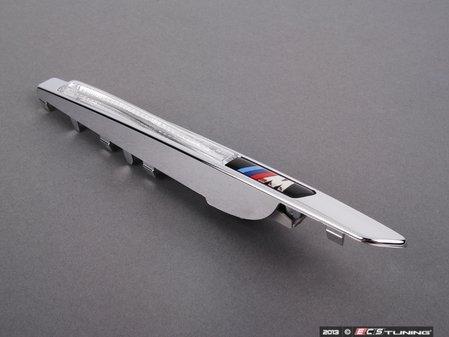 ES#1305282 - 51657207174 - ///M Fender Grille - Right - Black Chrome. The fender insert featuring the ///M logo  - Genuine BMW - BMW