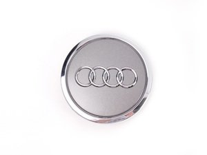 ES#7677 - 4B0601170A7ZJ - Center Cap - Grey Metallic - Priced Each - Replace your missing or damaged cap. 56mm - Genuine Volkswagen Audi - Audi