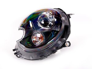 ES#2102096 - 63127270027 - Bi-Xenon Black Headlight Assembly - Left - Replace your cracked or broken headlight housing - Genuine MINI - MINI