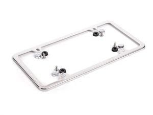 ES#196069 - 82120147354 - MINI Slim Line License Plate Frame - Chrome - Priced Each - Add the slim look - Genuine MINI - MINI