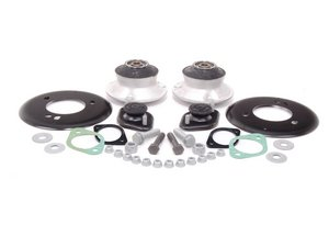 ES#2593737 - 33521092362KT - Cup Kit/Coilover Installation Kit - Without Spring Pads - Everything you need to install coilovers, shocks/struts, or a cup kit on your BMW including HD rear shock mounts with reinforcement plates - Assembled By ECS - BMW