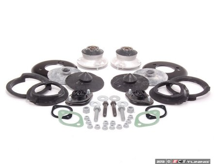 ES#2642811 - 51717036781KTV - Cup Kit/Coilover Installation Kit - With Spring Pads - Everything you need to install coilovers, shocks/struts, or a cup kit on your BMW including HD rear shock mounts - Assembled By ECS - BMW