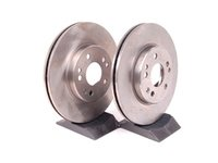 ES#2561873 - 1244212412 - Front Brake Rotors - Pair - Includes rotors for left and right sides -- Does not include new rotor hold down screws - PBR - Mercedes Benz