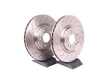 ES#2561801 - 2034211312 - Front Brake Rotors - Pair - Includes left and right front brake rotors - Pilenga - Mercedes Benz
