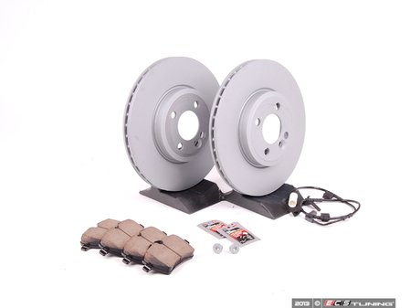 ES#2597550 - 34116858652KT12 - Front Brake Service Kit - Featuring Zimmerman rotors and Akebono pads - Assembled By ECS - MINI