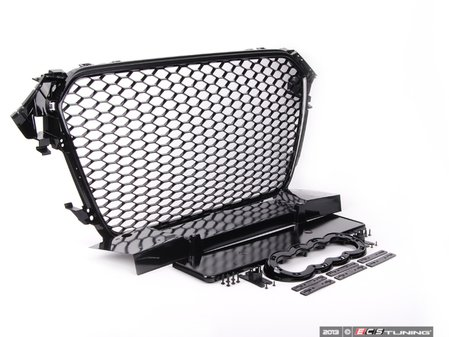 ES#2627562 - YT601215PH -  RS4 Mesh Style Grille - Black With Black Frame - Add a sleek new look to your front end with this black mesh grille. - ECS - Audi
