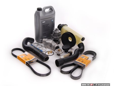 ES#2636024 - 61311384739KT2 - Cooling System Refresh Kit - Level 2 - A complete kit to help solve your BMWs cooling problems - featuring a GEBA water pump with a metal impeller - Assembled By ECS - BMW
