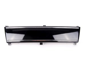 ES#2081140 - 8E0807287DZ9Y - Front Plate Filler - Phantom Black Pearlescent - Stealth look for your Audi - Genuine Volkswagen Audi - Audi