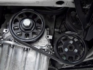 ES#2838 - VR612VPSPKIT MK3 - Lightweight Power Steering Pulley - Black - Less rotational mass means more power, allows you to retain your stock belt! - ECS - Volkswagen