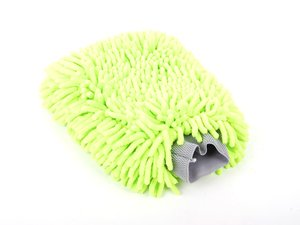 "ES#2619165 - MIC493 - Chenille Plush Microfiber Mitt - This lime green wash mitt measures 7""X9"" - Chemical Guys - Audi BMW Volkswagen Mercedes Benz MINI Porsche"