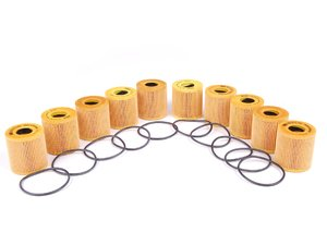 ES#2598728 - 1142762244610KT2 - Oil Filter Kit With O-Ring - 10 Pack - Multi-pack oil filter kits to ensure your oil stays contaminant free : Gen 2 MINIs - Mann - MINI