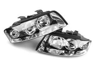 ES#835 - B6A4ECODEHAL - European Halogen Headlight Set - Improved European beam pattern without amber corner markers - Valeo - Audi