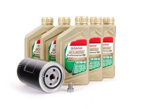 ES#2570266 - 068115561BKT5 - Oil Service Kit - Includes large OE oil filter and Castrol 5w-40 oil - Genuine Volkswagen Audi - Audi