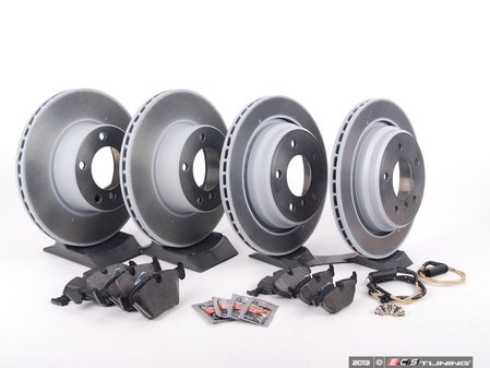 ES#2598402 - ECSE39341121-KT1 - Front And Rear Brake Service Kit - Featuring Meyle Brake Rotors and Pagid Pads - Assembled By ECS - BMW