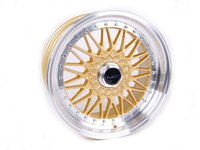 """ES#2695949 - 010-21KT - 18"""" Style 010 Wheels - Set Of Four  - 18""""x9"""" ET30 66.6CB 5x112 Gold With Machined Lip - Alzor - Audi"""