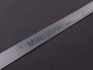 "ES#128727 - 51717052127 - ""MINI Cooper"" Door Sill Entry Strip - Priced Each - Located on the rocker panel / side skirt - Genuine MINI - MINI"