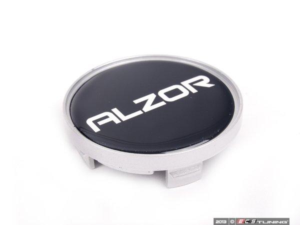 ES#2575990 - C615SL-A - Center Cap - Black/Silver - Priced Each  - For Alzor Style 616 & 651 wheels. 57.5mm - Alzor - Audi Volkswagen