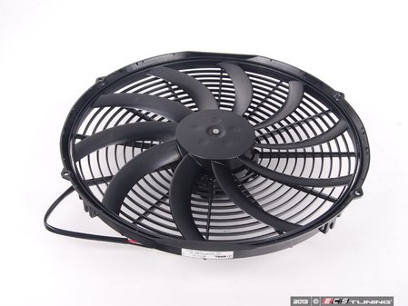 "ES#2652188 - 30102049 - Universal 16"" Electric Fan - Black - 2024 CFM. High performance puller fan with curved blades. - Spal - Audi BMW MINI"