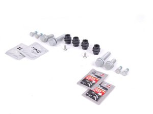ES#2594250 - 8K0698470AKT6 - Rear Pad and Rotor Installation Kit - Make your brake service headache free with this installation kit! - Assembled By ECS - Audi
