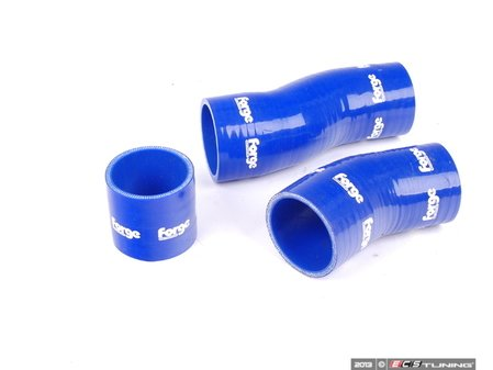 ES#1832523 - FMKT007B - Lower Intercooler Boost Hose Kit - Blue - 3 Piece kit used on the stock twin intercoolers - Forge - Audi