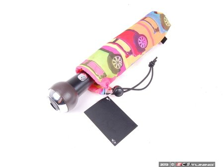 ES#253668 - 80232146918 - MINI Pop Style Travel Umbrella - Multi Color - (NO LONGER AVAILABLE) - Add more MINI style to travels - Genuine MINI -
