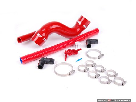 ES#2608060 - FMDV225RLKR - Diverter Valve Relocation Kit - Red Hoses - Relocate the diverter valve from the hot side of the turbo to the cold side. - Forge - Audi