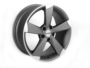 "ES#2143408 - 628-1 -  18"" Style 628 Wheels - Set Of Four - 18""x8"" ET35 5x112 - Gunmetal/Machined Face - Alzor - Audi Volkswagen"
