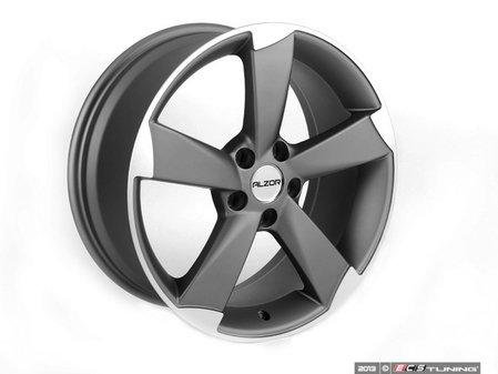"ES#2143408 - 628-1 -  18"" Style 628 Wheels - Set Of Four - 18""x8"" ET35 5x112 - Gunmetal/Machined Face - Alzor - Audi Volkswagen"