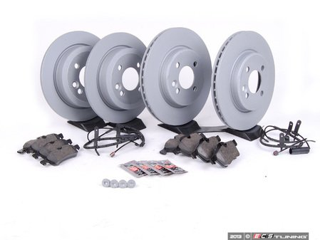 ES#2587595 - 34111502891KT11 - Front & Rear Brake Service Kit - Featuring Zimmerman rotors and Pagid pads - Assembled By ECS - MINI