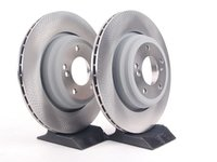 ES#240362 - 34212229379KT - Rear Brake Rotors - Pair (328x20) - Factory braking performance. - Genuine BMW - BMW