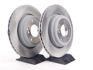 Set of 2 Meyle GEOMET®Anti Rust Coated Rear Brake Rotors BMW E39 M5 /&  E46 M3