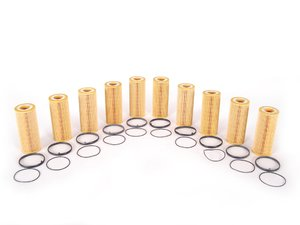 ES#514111 - 06E115562A - Oil Filter Kit - Pack Of 10 - Stock up for future maintenance and save! - Mann - Audi